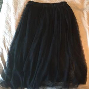 Dresses & Skirts - Black Toole Mid Length Skirt